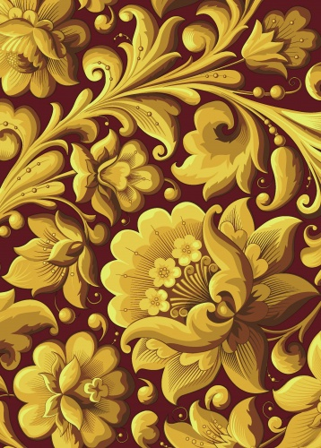 Блокноты. Тетради Эксмо 978-5-699-61391-5 Тетрадь «Хохлома N1 макси»