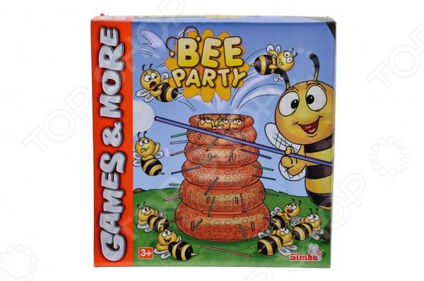 Игра настольная Simba «Пчелы»Логические и стратегические настольные игры<br>Игра настольная Simba Пчелы развлекательный набор для детей, который даст возможность приятно провести в кругу друзей. Принцип игры заключается в том, что бы не дать пчеле покинуть улей, соблюдая все правила указанные в инструкции к игре. Во время игры у ребенка развивается внимание, концентрация, логическое мышление и фантазия. Продукция выполнена из высококачественных материалов и не содержат токсичных веществ.<br>