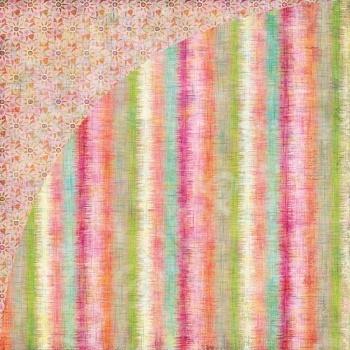 фото Бумага для скрапбукинга двусторонняя Basic Grey Edgy Stripe, купить, цена