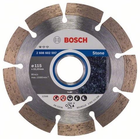 Диск отрезной алмазный для угловых шлифмашин Bosch Professional for Stone диск отрезной алмазный турбо 115х22 2mm 20006 ottom 115x22 2mm