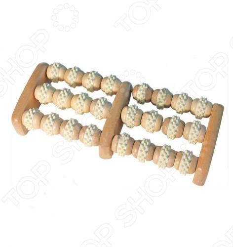 Массажер деревянный Банные штучки роликовый для ног
