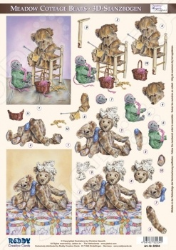 фото Аппликация вырубная для объемных рисунков Reddy Creative Cards «Плюшевые медведи» №5, купить, цена