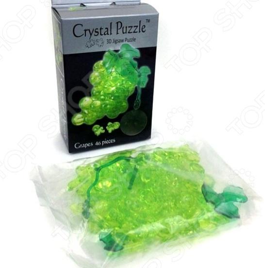 Пазл кристаллический Crystal Puzzle «Виноград Зеленый»Другие виды пазлов<br>Пазл кристаллический Crystal Puzzle Виноград Зеленый это замечательная альтернатива привычным пазлам. Готовая модель будет выглядеть как настоящая фигурка, детали которой плотно зафиксированы. Когда пазл собран стыки почти не видны и ребенок сможет любоваться готовым изделием. Собранная фигурка выглядит словно сделана из хрусталя, она может стать красивым элементом декора. Пазлы такого типа помогают развить логическое и пространственное мышление, фантазию, понятие объема и мелкую моторику рук. Внутри конструктора есть светодиод, который подсветит фигуру в темноте.<br>