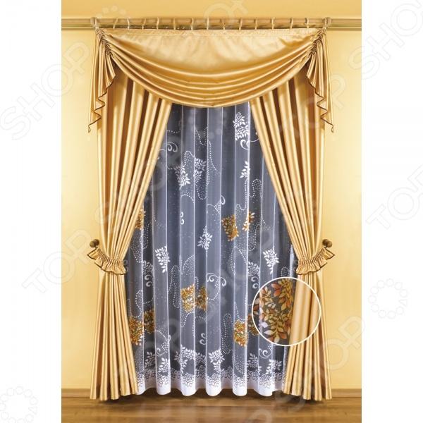 Комплект штор Wisan ZlataШторы<br>Комплект штор Wisan Zlata это качественный оконный занавес, который преобразит интерьер и оживит атмосферу, придав всей комнате домашний уют, завершенность и оригинальность. Шторы изготовлены из полиэстера, который практически не мнется, легко отстирывается от загрязнений, не притягивает пыль и не требует глажки. Благодаря этому ткань способна выдержать сотни стирок без потери цвета и прочности. Обычные материалы со временем выгорают, на них собирается пыль, появляются неприятные запахи. С полиэстером этого не происходит штора почти не пачкается и не впитывает запахи, при этом вы очень легко ее постираете и высушите. Интерьер квартиры или дома, в котором окна не украшены занавесом, сегодня трудно представить, поэтому шторы станут отличным подарком для любого человека. Купить шторы способ недорого, быстро и изящно преобразить дизайн домашнего интерьера!<br>