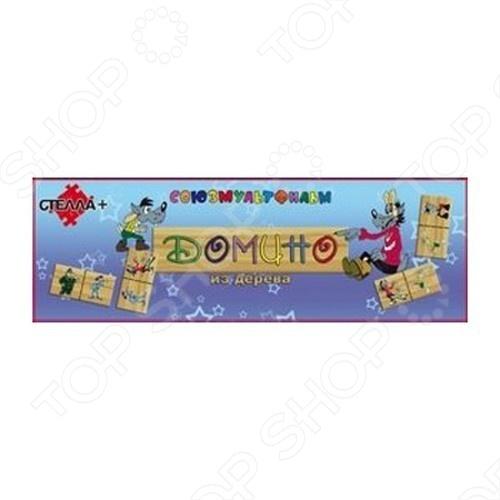 Домино-макси СТЕЛЛА Ну, погоди! понравится как деткам, так и взрослым. Теперь любимые герои стали еще ближе. Домино выполнено из дерева и прослужит не один год. Настольная игра доставит море удовольствия всем играющим.
