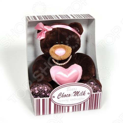 Мягкая игрушка Choco&Milk «Milk с сердцем» мягкая игрушка choco