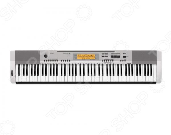 Фортепиано цифровое Casio CDP-230R по достоинству оценят даже самые взыскательные музыканты. Это цифровое пианино позволяет просто творить чудеса. При помощи инновационной кнопки Концертный зал вы сможете почувствовать себя исполнителем на настоящей большой сцене. Вы самостоятельно сможете редактировать ритмы, части из различных уже имеющихся ритмов, объединять их между собой. Фортепиано подойдет как новичкам, делающим первые шаги на музыкальном поприще, так и профессионалам. У инструмента предусмотрена встроенная система обучения, которая поможет научиться играть, а тем, кто уже умеет, усовершенствовать свое мастерство.