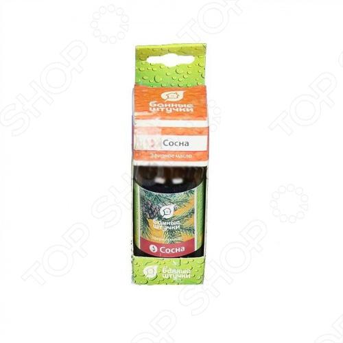 Масло эфирное Банные штучки «Сосна»Эфирные масла<br>Масло эфирное Банные штучки Сосна для бани и сауны. Масло создаст приятную атмосферу в бане и усилит термическое воздействие на организм. Состав масла благотворно влияет на кожу, нервную и иммунную системы и органы дыхания. Предназначено для ароматизации воздуха в помещении. Состав: 100 натуральное эфирное масло Инструкция по применению: 3-5 капель на ковш воды, располагать у источника тепла, добавлять в ушат при запаривании веника. Хранить в прохладном, темном месте, отдельно от пищевых продуктов.<br>