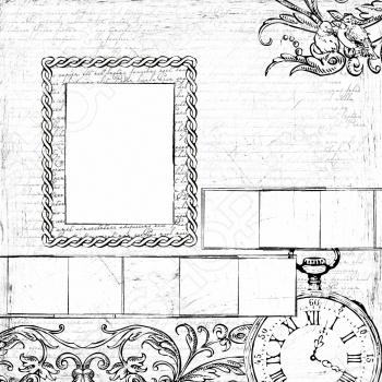 фото Бумага для раскрашивания Prima Marketing Timepiece Frames, купить, цена