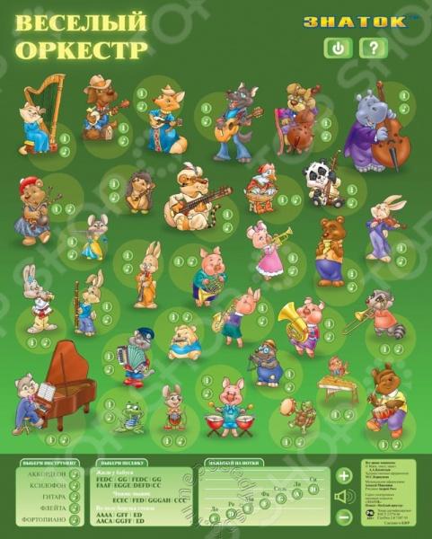 Плакат электронный звуковой ЗНАТОК «Веселый оркестр» Плакат электронный звуковой Знаток «Веселый оркестр» /