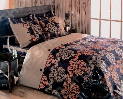 Комплект постельного белья Tete-a-Tete Дюбарри размерности евростандарт поразит вас необычайной тонкостью исполнения, воздушной легкостью и невероятной шелковистостью, усиливающийся после стирки. Выполнен в ненавязчивом сочетании бежевого и черного цветов, которые хорошо примут наложение любого другого оттенка, при разном освещении, за счет чего ваша постель будет выглядеть безупречно. Наволочки белья Tete-a-Tete Дюбарри имеют клапан без пуговиц и молнии. Пододеяльники оснащены молнией на нижнем конце пододеяльника. Молния с фиксаторами, не позволяющими ей расстегиваться до самого конца. Она очень прочная и состоит из одной эргономичной детали, что продлевает срок службы изделию. Свойства изделия: 100 хлопок, плотность 155 г м2. Все предметы комплекта цельнокроеные. Упаковка: подарочная коробка.