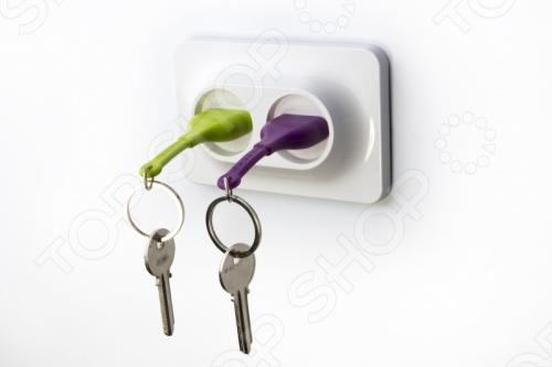 фото Двойной брелок и держатель для ключа Qualy Unplug, Ключницы
