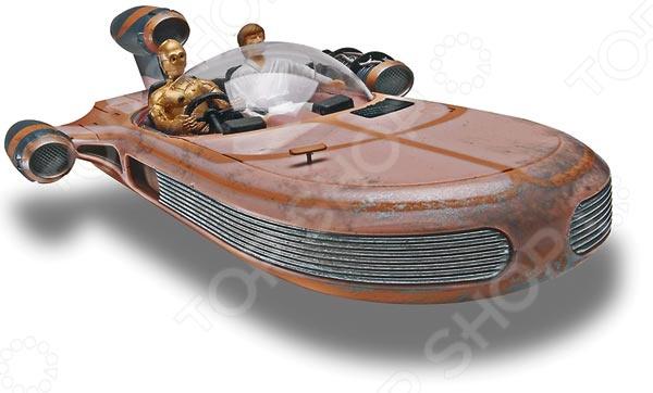 Сборная модель X-34 Landspeeder представляет собой точную копию болида из всемирно известной саги Star Wars. Состоит из 32 деталей, которые юный механик должен собрать сам. Во время игры с такой машиной у ребенка развивается мелкая моторика рук, фантазия и воображение. Парящий болид с репульсорным генератором под капотом выпущен известной компанией по производству игрушек Revell. Изготовлен из пластика и обладает потрясающей детализацией. Сборная модель X-34 Landspeeder является отличным подарком не только ребенку, но и коллекционеру. Клей, кисточка и краски в комплект не входят.