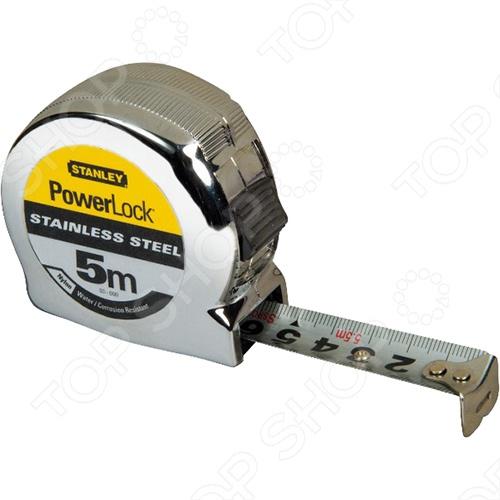 Рулетка Stanley POWERLOCK 0-33-932 рулетка stanley 5м х19мм powerlock 0 33 194