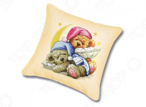 Набор для вышивания подушки Белоснежка Два медвежонка