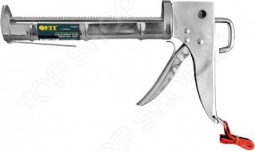 Пистолет для герметика FIT - это полупропускной, хромированный пистолет для выдавливания герметика из емкости 310 мл , с зубчатым штоком и ремешком для переноски. Пистолет изготовлен из хромированной инструментальной стали, тем самым имеет повышенную износоустойчивость.