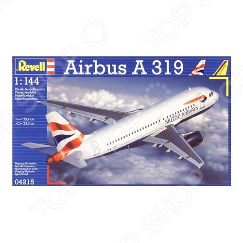 Сборная модель пассажирского самолета Revell Airbus A 319 модель сборная revell самолёт пассажирский airbus a380 lufthansa 1 144