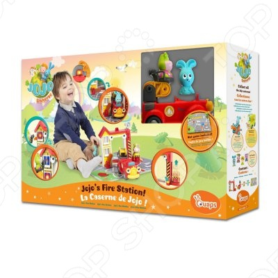 Развивающая игрушка Ouars Пожарная станция БаниДругие развивающие игрушки и игры<br>Развивающая игрушка Ouars Пожарная станция Бани понравится как деткам, так и взрослым. Набор выполнен в ярких цветах, привлекает внимание сразу. В набор входит много аксессуаров, фигурка Бани, пожарная машина и сама станция. Имеет игрушка звуковые и световые эффекты. В процессе такой игры развивается моторика ручек, фантазия и мышление.<br>