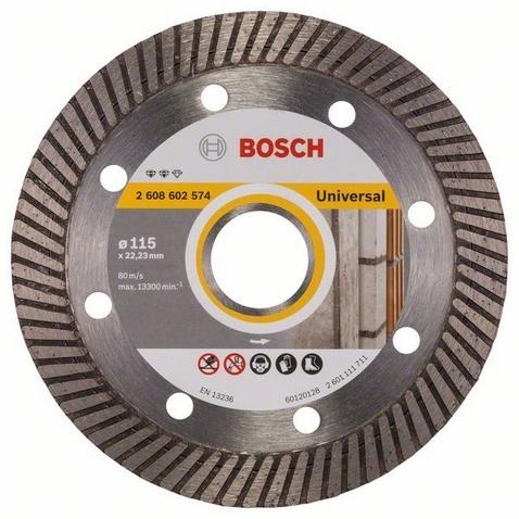 Диск отрезной алмазный для угловых шлифмашин Bosch Expert for Universal Turbo диск отрезной алмазный турбо 115х22 2mm 20006 ottom 115x22 2mm