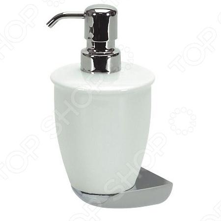 Ёмкость для жидкого мыла фарфоровая Spirella DarwinДиспенсеры для мыла<br>Ёмкость для жидкого мыла фарфоровая Spirella DARWIN незаменимая вещь в любой ванной комнате. Такой аксессуар очень удобен в использовании, достаточно лишь перелить жидкое мыло в дозатор, а когда надо воспользоваться мылом, необходимо легким нажатием выдавить нужное количество. Дозатор создаст особую атмосферу уюта и максимального комфорта в ванной.<br>