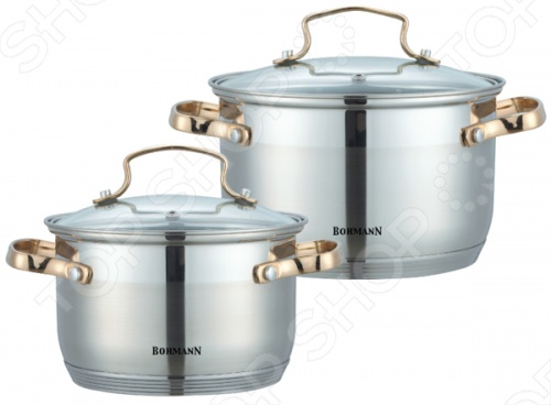 Набор кухонной посуды Bohmann BH-1902 сушилка для овощей со встроенным слайсером bohmann bh 001g
