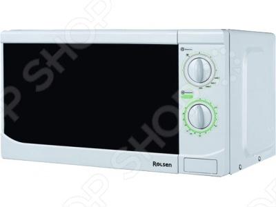 Микроволновая печь Rolsen MG1770MDМикроволновые печи (СВЧ)<br>Микроволновая печь Rolsen MG1770MDс простым и удобным механическим управлением. Разогреть завтрак, или подрумянить пиццу теперь для этого достаточно пары движений. В микроволновой печи Rolsen MG1770МD предусмотрено 5 уровней мощности микроволнового излучения и 3 комбинированных режима приготовления с использованием микроволнового излучения и гриля.<br>