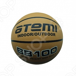 Мяч баскетбольный ATEMI BB100Мячи баскетбольные<br>Мяч баскетбольный ATEMI BB100 это мяч для любительской игры в баскетбол. Подходит всем, кто любит активный отдых. Мяч сделан из 8 износостойких резиновых панелей. Играть с таким мячом можно и в зале, и на улице.<br>