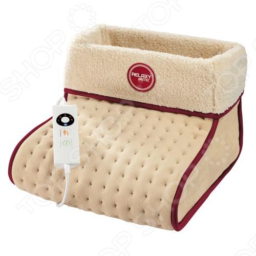 Электрогрелка для ног IMETEC 16061 изготовлена из мягкого, гипо-алергенного приятного на ощупь материала MICROPLUSH. Просто включите её, и ваши ноги согреет мягкое тепло, так приятно расслабляющее и согревающее в любую погоду. Размер электрогрелки для ног IMETEC 16061 32х26х26 см. У электрогрелки для ног есть цифровой переключатель со светодиодным дисплеем и электронной регулировкой температуры с 5 режимами. Быстрый нагрев! Низкое энергопотребление: мощность 20W max.110W ! Размер XL для всех типов ног! Автоматическое отключение через 3 часа! Чехол моющийся, гипо-алергенный, пригодный для ручной и машинной стирки. Внешняя сторона: материал MICROPLUSH микроплюш . Съемный чехол вставка из MICROPLUSH микроплюш .