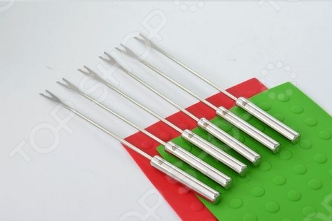 Набор вилок с 2-мя зубцами для фондю Stahlberg 5740-S набор вилок для фондю 6 штук stahlberg 5741 s
