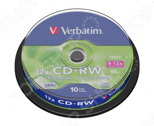 Набор CD+RW дисков Verbatim 43480 стеллаж для cd дисков хай тек купить для дома