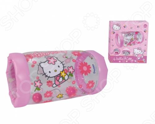 Надувной ролл Simba Hello Kitty поможет развить двигательную активность малышей. На игрушку можно садиться или кататься на ней на животе, а также опираться при вставании. Для начала игры необходимо просто надуть цилиндр. Два звонких шарика внутри игрушки будут долго привлекать внимание малыша. Надувной ролл Simba Hello Kitty поможет укрепить вашему ребенку мышцы спины и ножки малыша.