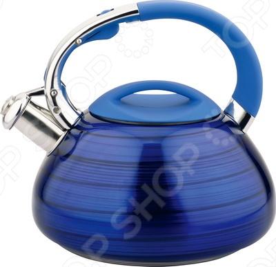 Чайник со свистком Bohmann BH-8079. В ассортиментеЧайники со свистком и без свистка<br>Товар продается в ассортименте. Цвет изделия при комплектации заказа зависит от наличия цветового ассортимента товара на складе. Чайник со свистком Bohmann BH-8079 оборудован свистком для определения закипания воды и изготовлен из качественной нержавеющей стали. Корпус из стали долговечен, не подвергается коррозии и обладает антиаллергенными свойствами. Ручка модели очень удобна и не нагревается, т.к. изготовлена из качественного термостойкого пластика. Изящная форма, яркий цвет чайника и отполированная поверхность придают ему эстетичности на столе. Подходит для всех типов бытовых плит.<br>