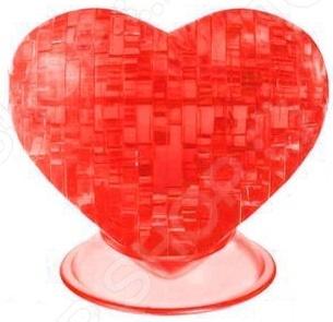 Кристальный пазл 3D Crystal Puzzle «Сердце красное» пазлы crystal puzzle головоломка лев