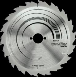 Диск отрезной для ручных циркулярных пил Bosch Speedline Wood 2608640789 диск отрезной для торцовочных пил bosch optiline wood 2608640432
