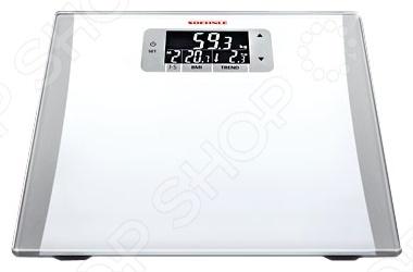 Весы Soehnle 63806 EasyControlВесы<br>Весы напольные Soehnle 63806 Easy Control современные электронные весы для повседневного использования, предназначенные для максимально точного взвешивания массы тела. Модель со стильным дизайном, оснащена стеклянной платформой, функцией автоматического включения и выключения, и дисплеем для более удобного контроля взвешивания. Гарантирована высокая устойчивость благодаря плоской поверхности и нескользящим ножкам. Soehnle 63806 Easy Control оборудован функцией автоматического узнавания для 5 человек. Производят точнейшие измерения благодаря биоимпедансному анализу организма: вычисление индекса массы тела.<br>