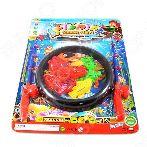 Рыбалка магнитная Shantou Gepai 9 рыбок - обязательно понравится ребёнку. В комплект входит 2 удочки и 9 рыбок, которые малыш должен словить на магнит. В процессе игры у ребёнка развивается ловкость движений. В игру можно играть вдвоём, что придаст ей ещё больший азарт и интерес.