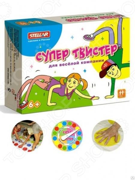 Игра развивающая Стеллар «Супер Твистер» настольная игра домино стеллар хорошие знакомые 9