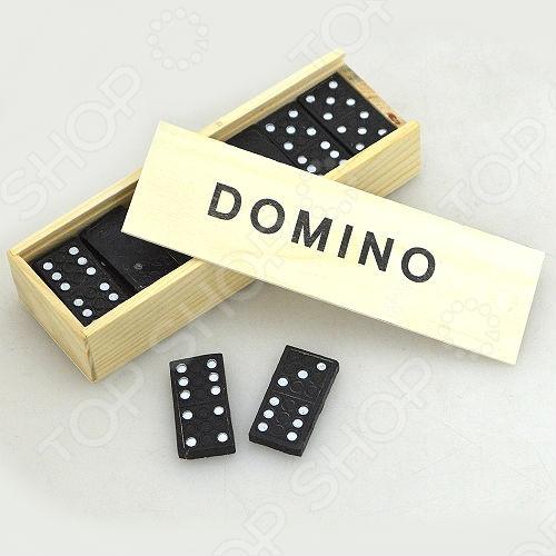 Домино пластиковое TSM1001Домино<br>Домино пластиковое TSM1001 состоит из 28 костяшек с максимальным количеством 6 точек на одной половине. Пластиковые костяшки долговечны в использовании. Костяшки уложены в деревянный футляр, благодаря чему набор удобно брать с собой в дорогу.<br>