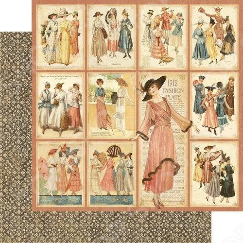 фото Бумага для скрапбукинга двусторонняя Graphic 45 Fashion Plates, купить, цена