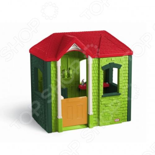 Домик игровой Little Tikes - стильный игровой домик. Благодаря компактным размерам его можно установить в квартире или на природе. У домика есть открывающиеся окна и двери. Стены домика сделаны как имитация кирпичной кладки. Четырех скатная крыша придает домику некоторую реалистичность. Оригинальный домик станет прекрасным подарком для вашего ребенка и позволит обыграть множество интересных инсценировок. В комплект входит несколько аксессуаров для домика, таких как телефонная трубка и несколько кухонных аксессуаров. Яркая и сочная расцветка домика понравится каждому ребенку.