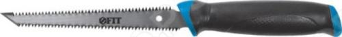 Ножовка для гипсокартона FIT 15378Лобзики. Ножовки. Пилы<br>Ножовка для гипсокартона FIT 15378 это отличная ножовка по гипсокартону, которая прекрасно подойдет как для небольших изделий, так и для крупногабаритных работ. Зубья имеют двугранную заточку и разведены. Эргономическая прорезиненная ручка поможет вам работать долго и без усталости. Материал ножовки: инструментальная сталь.<br>