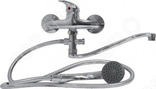 Смеситель для ванны одноручный, тонкий, изогнутый Rio SerraСмесители для ванной комнаты<br>Смеситель для ванны одноручный, тонкий, изогнутый Rio это сантехнический прибор, который позволяет регулировать напор воды и температуру. В смесителе смешивается вода разной температуры, в следствии чего, человек получает желаемую воду. Этот смеситель отлично впишется в дизайн вашей ванной, за счет причудливо изогнутого крана. Благодаря этой форме удобно мыть даже крупногабаритную посуду. Модель также отличается интересными ручками.<br>