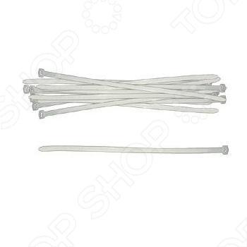 Хомуты нейлоновые 50 шт., размеров 400х4,8 мм применяются для стяжки проводов и при прочих работах.