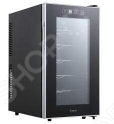 Холодильник винный Bomann KSW 345 создаст оптимальные условия для хранения вина или шампанского и станет элегантным дополнением вашего интерьера. Вы сможете вместить 18 бутылок вина, шампанского или другие напитки. Всю информацию о температуре вы будете наблюдать на LED-дисплее с синей подсветкой. Диапазон температур от 11С до 18 С можно настроить под любой напиток.