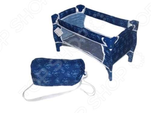 Кроватка для кукол 1 Toy с сумкой Кроватка для кукол 1 Toy с сумкой /Синий