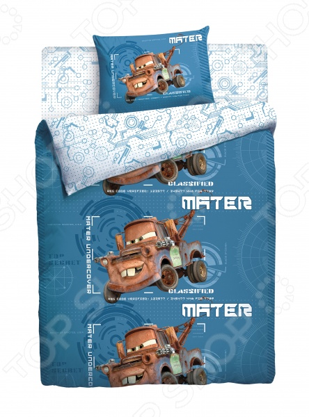 фото Комплект постельного белья Disney «Тачки. Грузовичок Мэтр», Детские комплекты постельного белья