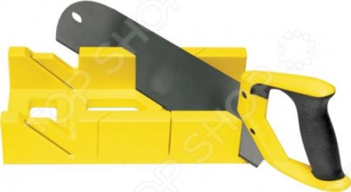 Стусло с пилой и запилом FIT 41259Стусла<br>Стусло с пилой и запилом FIT 41259. Стусло изготовлено из пластмассы, а пила из инструментальной стали. Используются при проведении столярных работ. С их помощью можно очень быстро и точно отпилить необходимые заготовки под любым углом. Пила имеет размер 350 мм с мелкими зубьями 13 зубьев на дюйм . Зубья закалены. Ручка из мягкого пластика.<br>