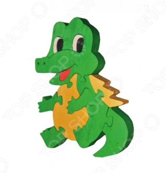Пазл деревянный Tree tone «Крокодильчик»