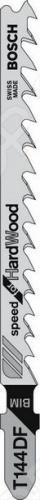 Набор пилок для лобзика Bosch T 144 DF BIM пилки для лобзика по металлу для прямых пропилов bosch t118a 1 3 мм 5 шт