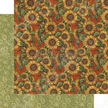 фото Бумага для скрапбукинга двусторонняя Graphic 45 Sunflower, купить, цена